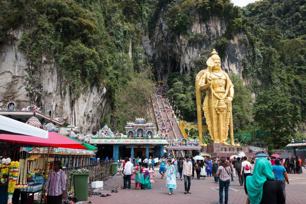 der Hindutempel Sri Mahamariamman in Kuala Lumpur, den ich mit Lara und Fabian besuchte...