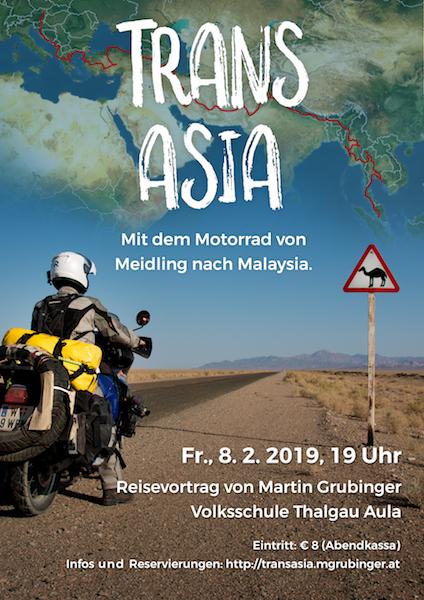 Reisevortrag Thalgau Plakat